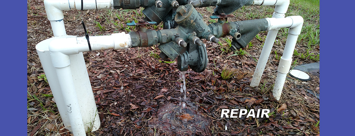 Notice the leaking valve.  Deland's Prestige plumber is certified for all backflow testing and repairs.