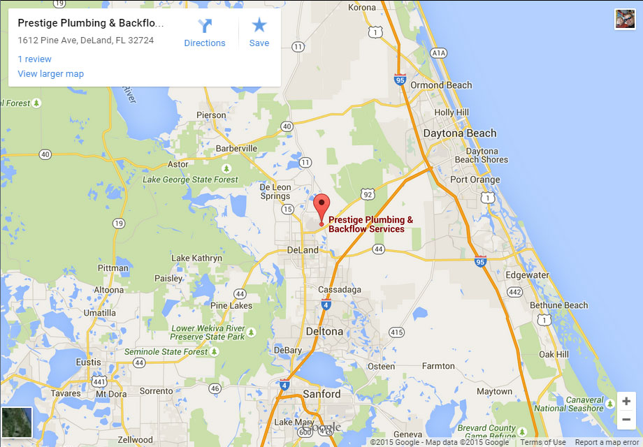 Deland Plumber Contact Us - Prestige Plumbing from Deland on